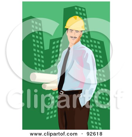 Royalty-Free (RF) Clipart Illustration of an Engineer - 1 by mayawizard101
