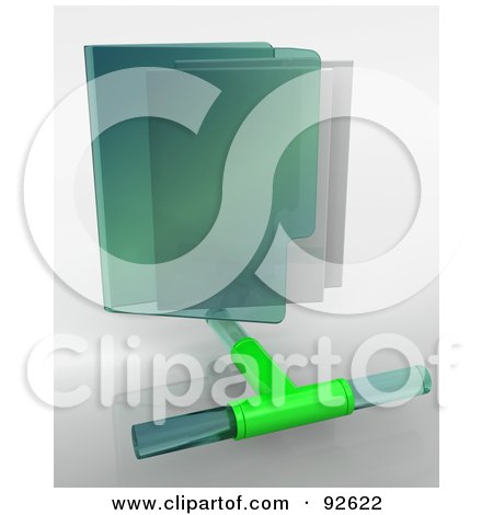 Royalty-Free (RF) Clipart Illustration of a 3d Green Network Folder Icon On Gray by KJ Pargeter