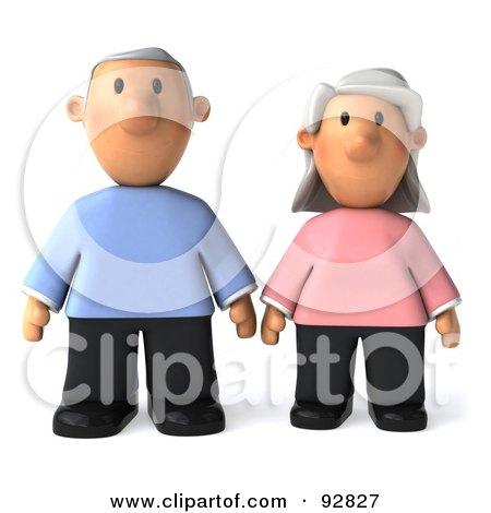 3d Senior Couple Together - 1 Posters, Art Prints