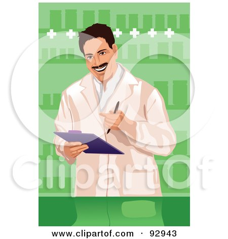 Royalty-Free (RF) Clipart Illustration of a Doctor - 7 by mayawizard101