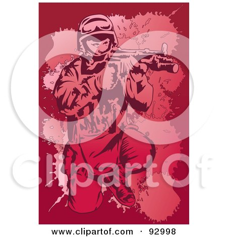 Royalty-Free (RF) Clipart Illustration of a Military Swat Man by mayawizard101