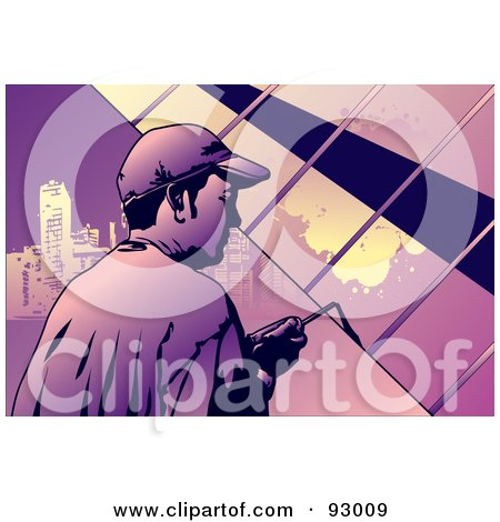 Royalty-Free (RF) Clipart Illustration of a Construction Worker Guy - 6 by mayawizard101