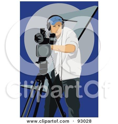 Royalty-Free (RF) Clipart Illustration of a Camera Man - 3 by mayawizard101