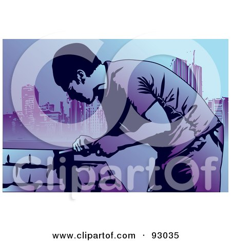 Royalty-Free (RF) Clipart Illustration of a Construction Worker Guy - 12 by mayawizard101