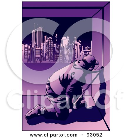 Royalty-Free (RF) Clipart Illustration of a Construction Worker Guy - 9 by mayawizard101