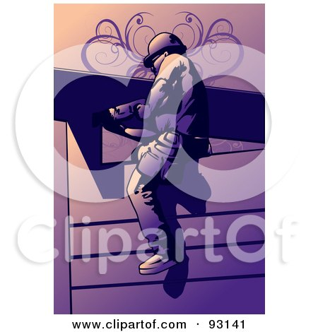 Royalty-Free (RF) Clipart Illustration of a Construction Worker Guy - 2 by mayawizard101