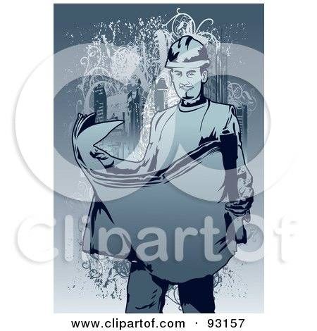 Royalty-Free (RF) Clipart Illustration of a Construction Worker Guy - 5 by mayawizard101