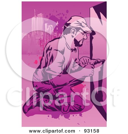 Royalty-Free (RF) Clipart Illustration of a Construction Worker - 10 by mayawizard101