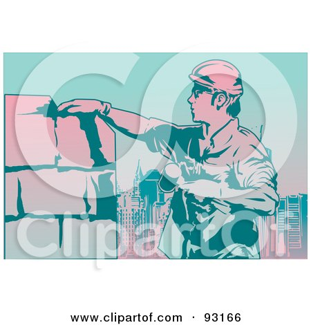 Royalty-Free (RF) Clipart Illustration of a Construction Worker - 9 by mayawizard101