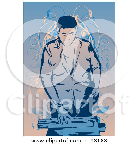 Royalty-Free (RF) Clipart Illustration of a Construction Worker - 13 by mayawizard101