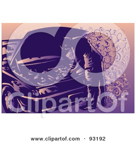 Royalty-Free (RF) Clipart Illustration of an Automotive Mechanic Working - 2 by mayawizard101