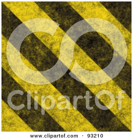 Royalty-Free (RF) Clipart Illustration of a Background Of Distressed Diagonal Thick Hazard Stripes by Arena Creative