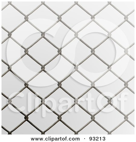 Royalty-Free (RF) Clipart Illustration of a Chain Link Fencing Background - 1 by Arena Creative