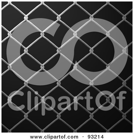 Royalty-Free (RF) Clipart Illustration of a Chain Link Fencing Background - 2 by Arena Creative