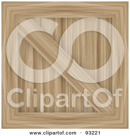 Royalty-Free (RF) Clipart Illustration of a Light Wooden Crate by Arena Creative