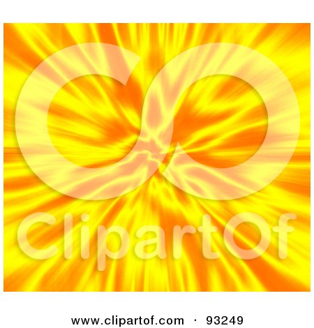 Royalty-Free (RF) Clipart Illustration of a Hot Explosion Of Yellow And Orange by Arena Creative