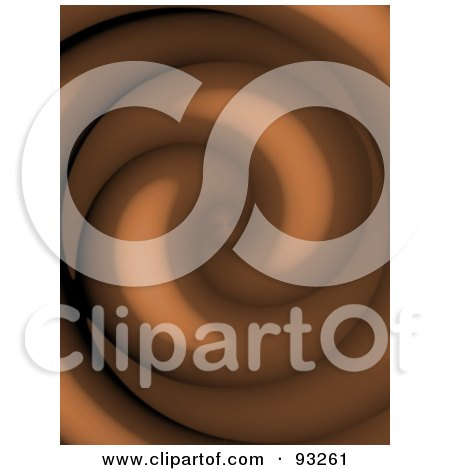 Royalty-Free (RF) Clipart Illustration of a Background Of A Chocolate Twirl by Arena Creative