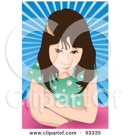Royalty-Free (RF) Clipart Illustration of a Mad Girl by mayawizard101