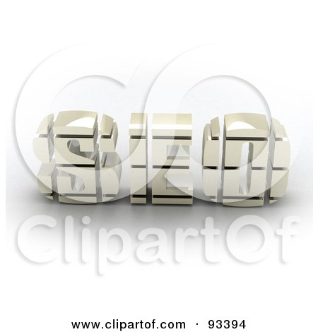 Royalty-Free (RF) Clipart Illustration of 3d White SEO by MacX