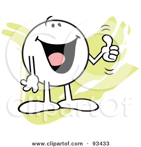 Royalty-Free (RF) Clipart Illustration of a Moodie Character Holding A Thumb Up by Johnny Sajem
