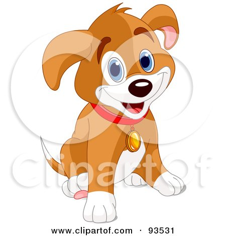 Royalty Free Stock Illustrations of Puppies by Pushkin Page 2