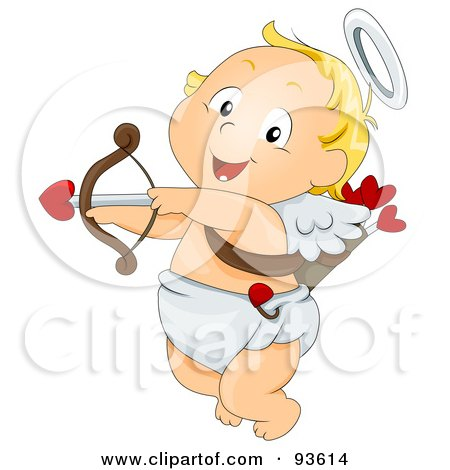 Baby Cupid Ready To Shoot An Arrow Posters, Art Prints