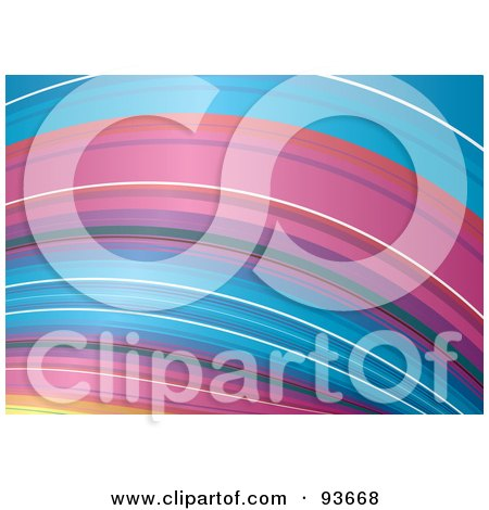 Royalty-Free (RF) Clipart Illustration of an Arched Rainbow Background by michaeltravers