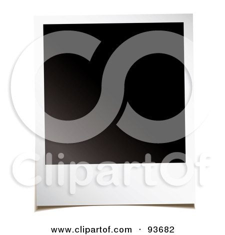 Royalty-Free (RF) Clipart Illustration of a Blank Black Space On A Polaroid Picture by michaeltravers