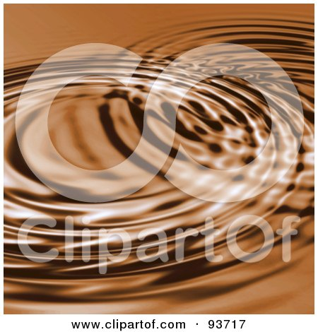 Royalty-Free (RF) Clipart Illustration of a Brown Background Of Circular Rippes by Arena Creative