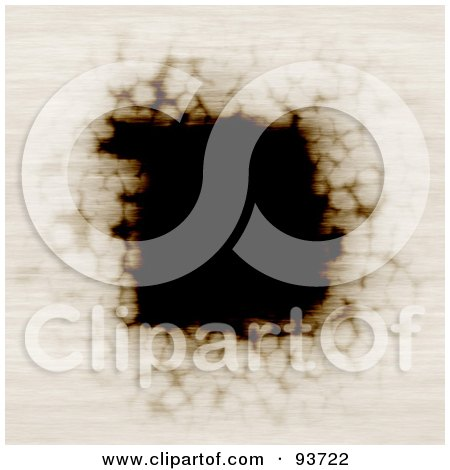 Royalty-Free (RF) Clipart Illustration of a Burnt Paper Frame - 2 by Arena Creative