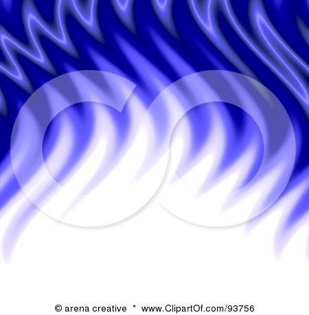 Royalty-Free Clipart Illustration Of A Background Of White And Blue Flame Waves by Arena Creative