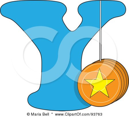 Royalty-Free (RF) Clipart Illustration of a Y Is For Yo Yo Learn The Alphabet Scene by Maria Bell