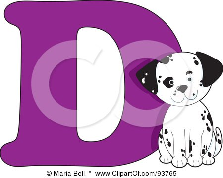 Royalty-Free (RF) Clipart Illustration of a D Is For Dog Learn The Alphabet Scene by Maria Bell