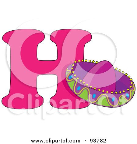 Royalty-Free (RF) Clipart Illustration of a H Is For Hat Learn The Alphabet Scene by Maria Bell