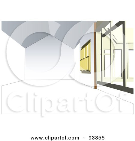 Royalty-Free (RF) Clipart Illustration of a Modern Home Interior Layout - 3 by toonster