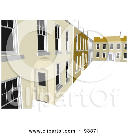 Royalty-Free (RF) Clipart Illustration of a Building Exterior - 14 by toonster