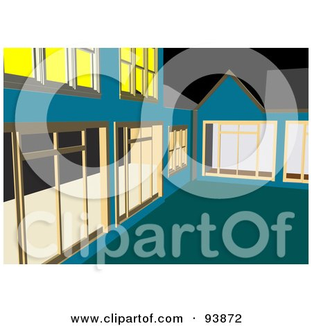 Royalty-Free (RF) Clipart Illustration of a Building Exterior - 1 by toonster