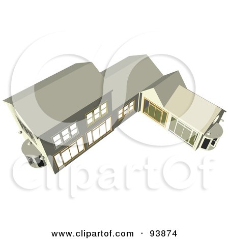 Royalty-Free (RF) Clipart Illustration of a Building Exterior - 8 by toonster