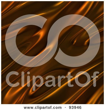 Royalty-Free (RF) Clipart Illustration of a Rippling Chocolate Background - 1 by Arena Creative