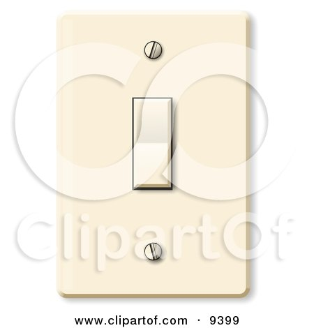 Clipart illustration of an electrical flip light switch in the off preview clipart standard household rocker light switch sciox Gallery