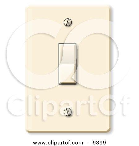 Standard Household Rocker Light Switch Clipart Picture by djart