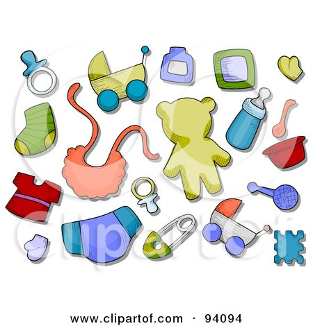 cartoon of baby items royalty free vector clipart by bnp baby items clipart images free baby items clip art free images