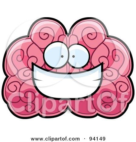 Brain Face Smiling Posters, Art Prints