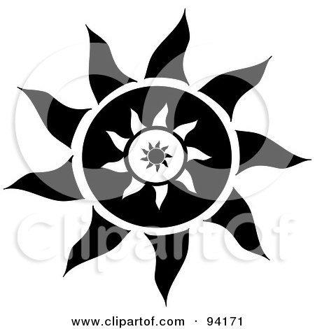 Royalty Free Vector Clip Art Illustration Of A Sun In