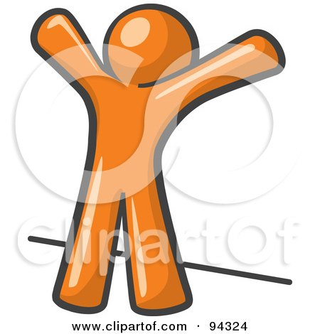 Orange Man Up Against A Wall, His Arms Up, Prepared To Be Searched Posters, Art Prints