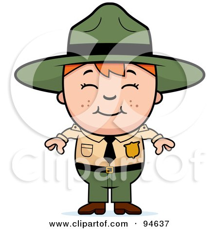 Royalty-Free (RF) Clipart Illustration of a Little Forest Ranger Boy by Cory Thoman