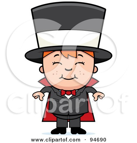 Royalty-Free (RF) Clipart Illustration of a Cute Happy Magician by Cory Thoman