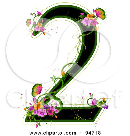 Royalty-Free (RF) Clipart Illustration of a Black Number 2 ...