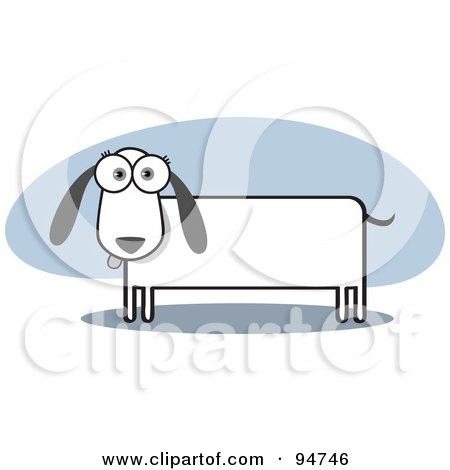 Royalty-Free (RF) Clipart Illustration of a Square Bodied Doxie Dog by Qiun