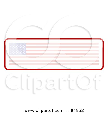 Royalty-Free (RF) Clipart Illustration of a Faded Long American Flag Banner by C Charley-Franzwa